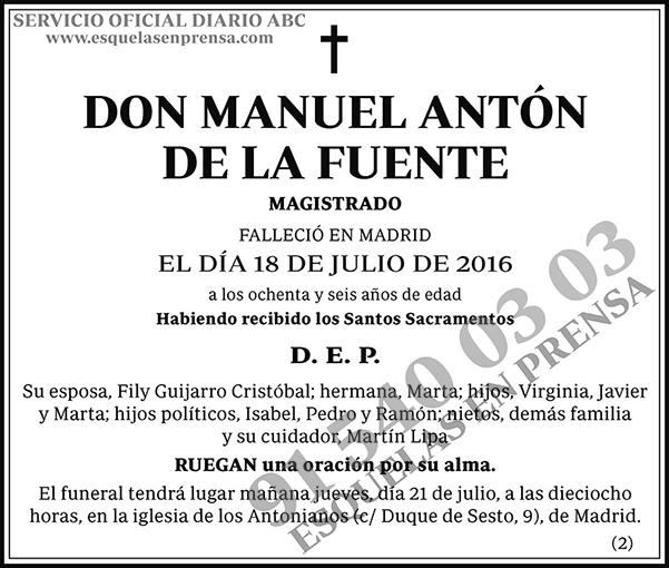 Manuel Antón de la Fuente